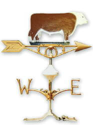 Weathervane - Painted Hereford Bull