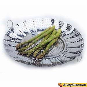 Vegetable Steamer - Large Stainless Steel Expandable