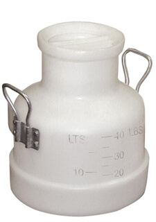 40 lb (18 Kg) Poly Milk Bucket with Storage Lid and 2 Handles