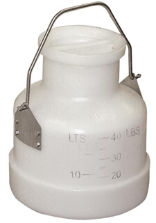 40 lb Poly Bucket with Storage Lid & Locking SS Handle