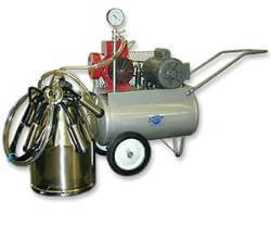 Portable Milking Machine Complete Set Up for Two Animals