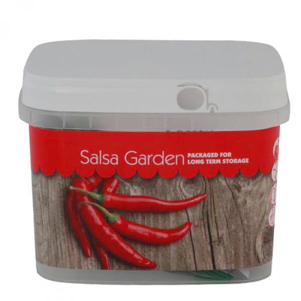 Salsa Garden Seeds Bucket