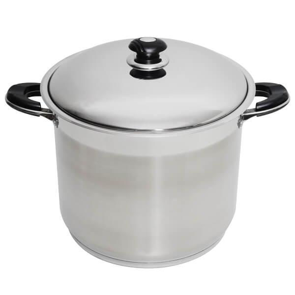 12 qt Stainless Steel Stock Pot with Lid