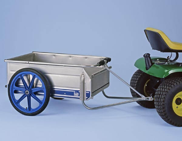 Aluminum Folding Cart with Trailer Hitch and Stand. Rear Gate