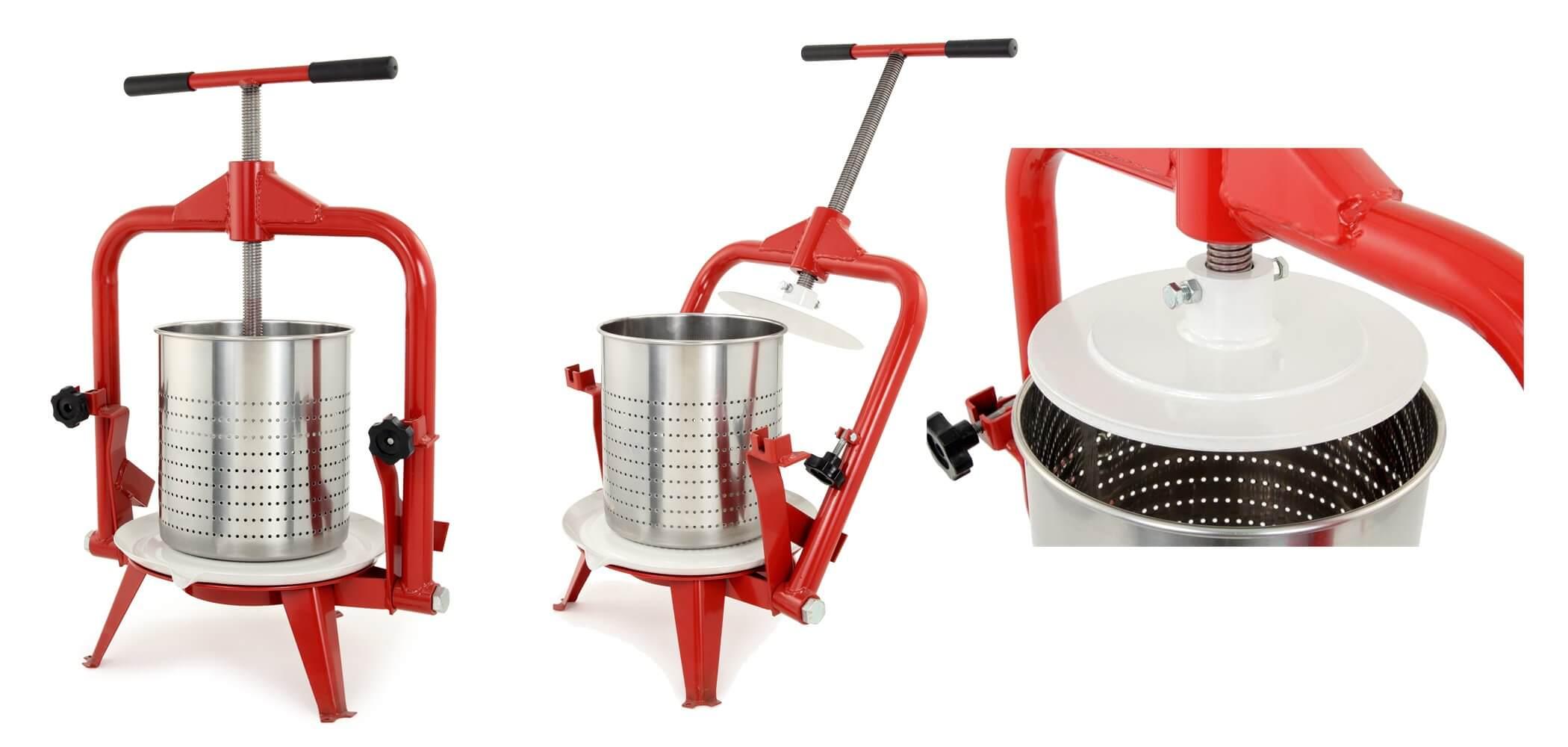 harvest deluxe stainless steel fruit press from tsm 14l 31162 homesteader 39 s supply. Black Bedroom Furniture Sets. Home Design Ideas